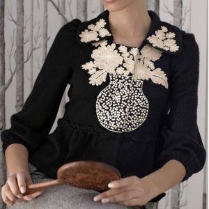 Leifsdottir embroidered peplum cardigan